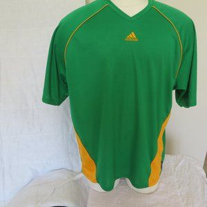 ADIDAS   GREEN SHIRT  XL